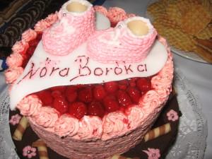 Nóra Boróka keresztelési tortája
